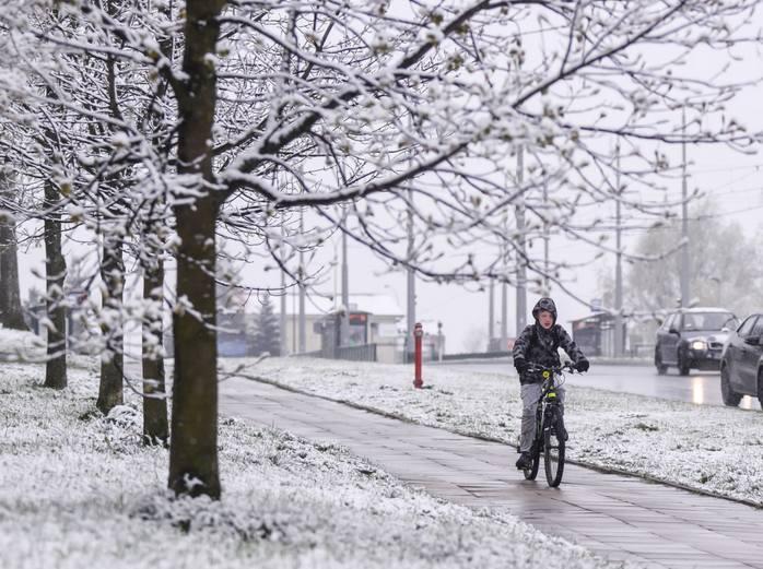 Atak zimy na Śląsku i woj. śląskim. Spadło 10 cm. śniegu. Drogi zakorkowane i białe