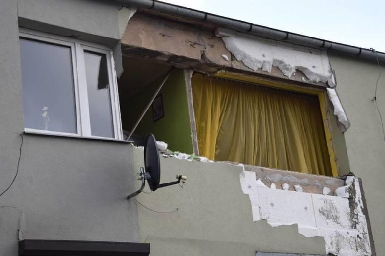 Wybuch gazu w Koninku – dwie osoby ranne, budynek nie nadaje się do użytku FOTO