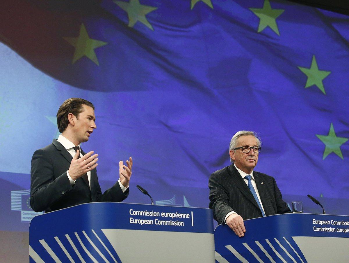 Nowy kanclerz Austrii Sebastian Kurz w Brukseli: Relokacja uchodźców nie rozwiąże problemu kryzysu migracyjnego w UE