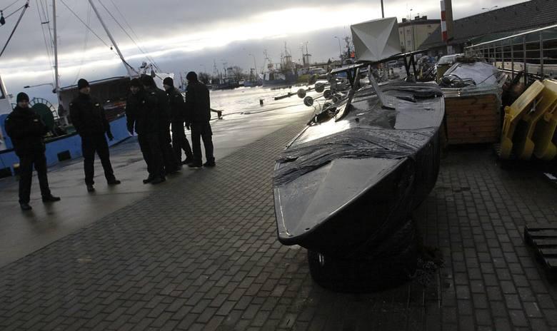 Rybacy z Jastarni wyłowili z Bałtyku kanadyjskiego, wojskowego bezzałogowca