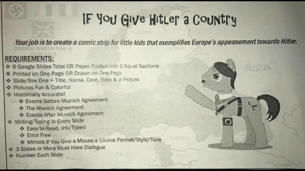 Rodzice oburzeni faszystowskim zadaniem uczniów z Gurnee
