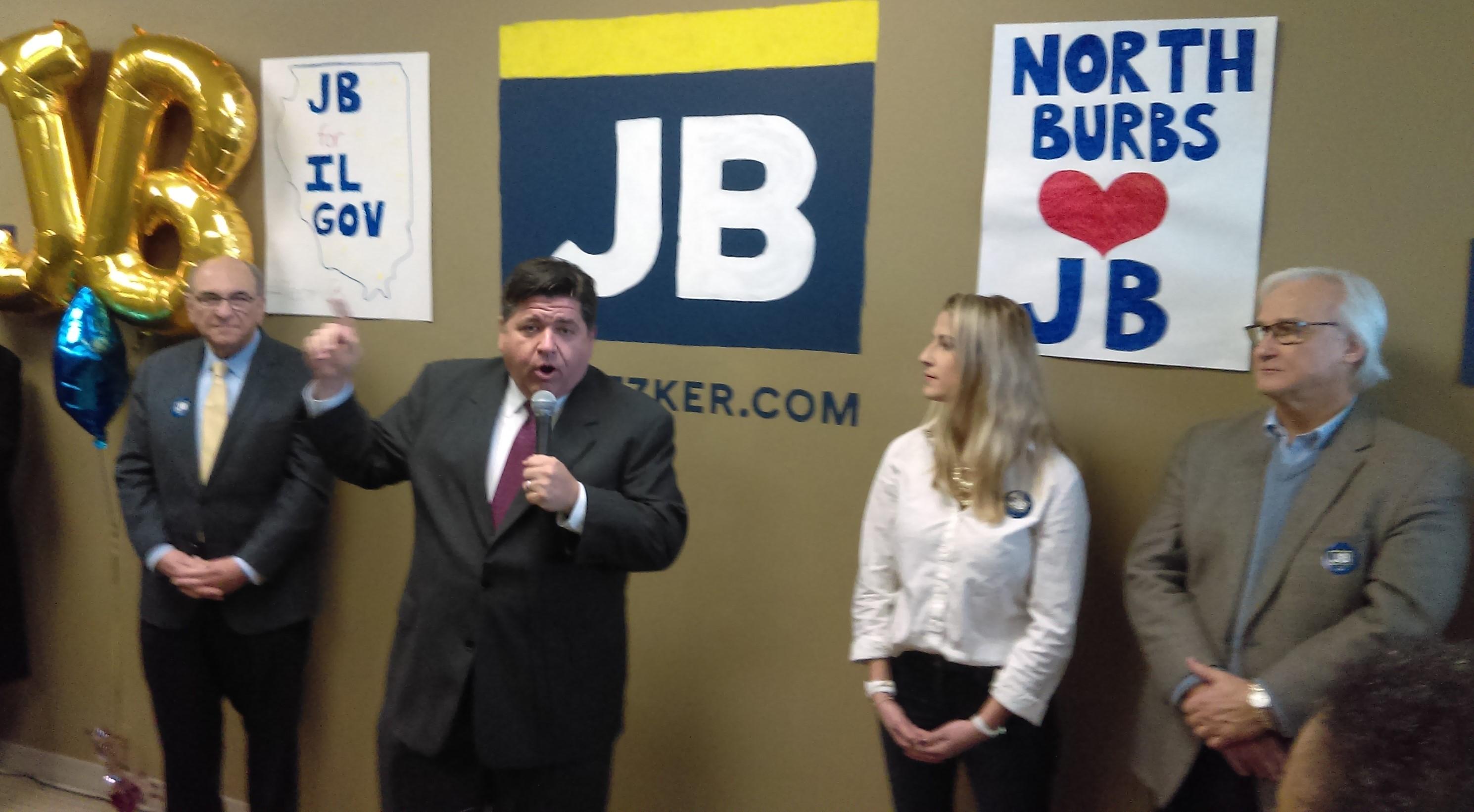 J.B. Pritzker otworzył biuro wyborcze w Niles