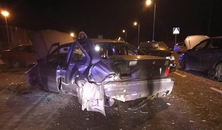 Lubuskie: Cztery rozbite samochody, jedna osoba potrącona w Gorzowie. Sprawca pijany. Czy to był nielegalny wyścig?