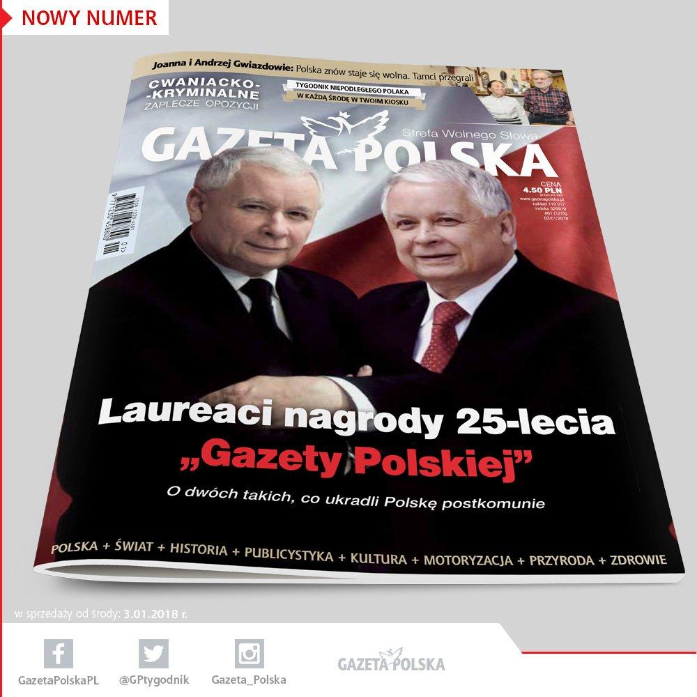 """Lech i Jarosław Kaczyńscy laureatami nagrody 25-lecia """"Gazety Polskiej"""""""