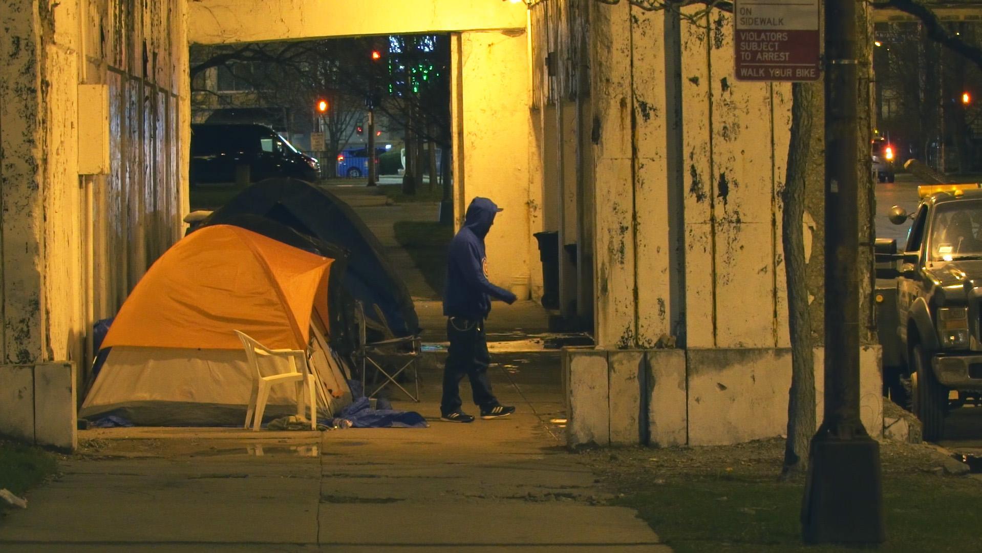 Akcja pod hasłem SLEEP OUT mająca zwrócić uwagę na bezdomnych w Chicago