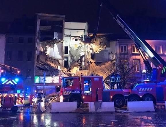 Eksplozja w Belgii. Zawalił się budynek. 14 osób rannych