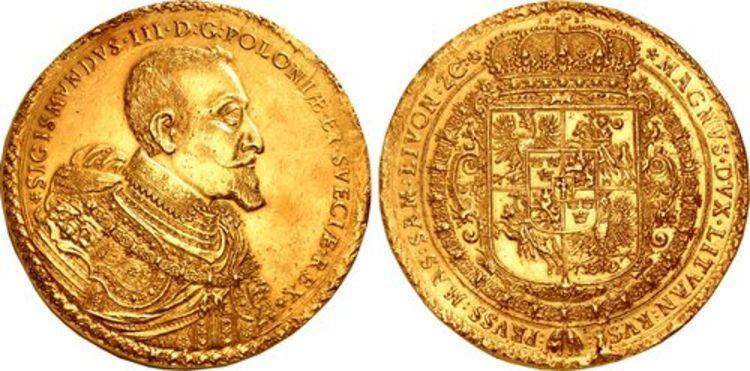 Unikatowy bydgoski dukat Zygmunta III Wazy trafił na amerykańską aukcję