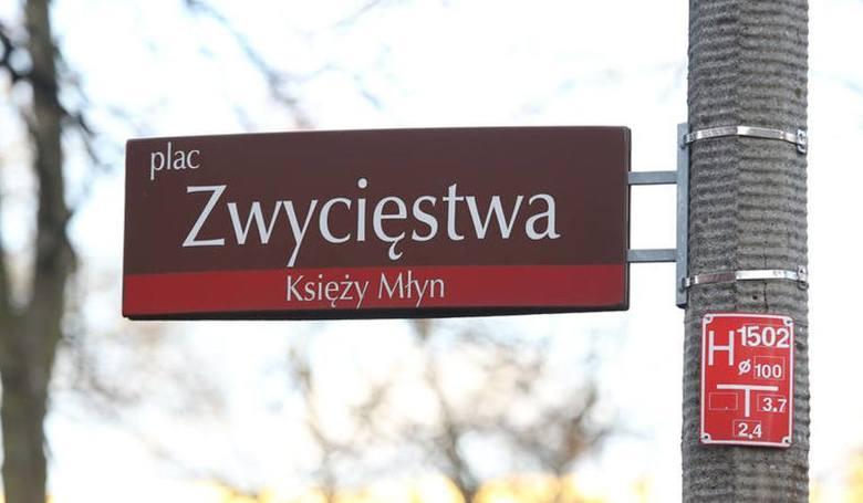 Plac Lecha Kaczyńskiego w Łodzi zmieni się w plac Zwycięstwa