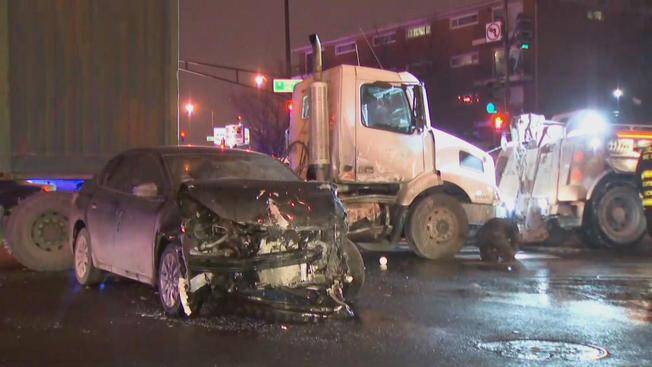 W dzielnicy Ashburn zderzyły się 3 samochody. Sprawca wypadku uciekł