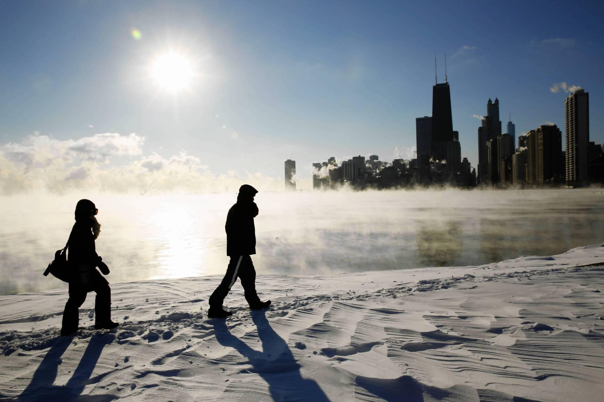 Chicago mocno ściska mróz