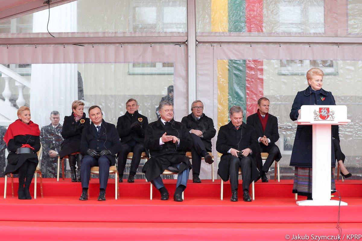 Wilno: Obchody stulecia odtworzenia państwowości litewskiej. Prezydent Litwy: Mamy prawdziwych przyjaciół i ich wsparcie