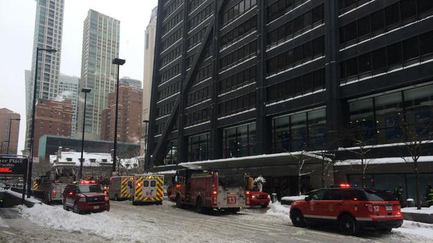 Pożar w garażu John Hancock Center