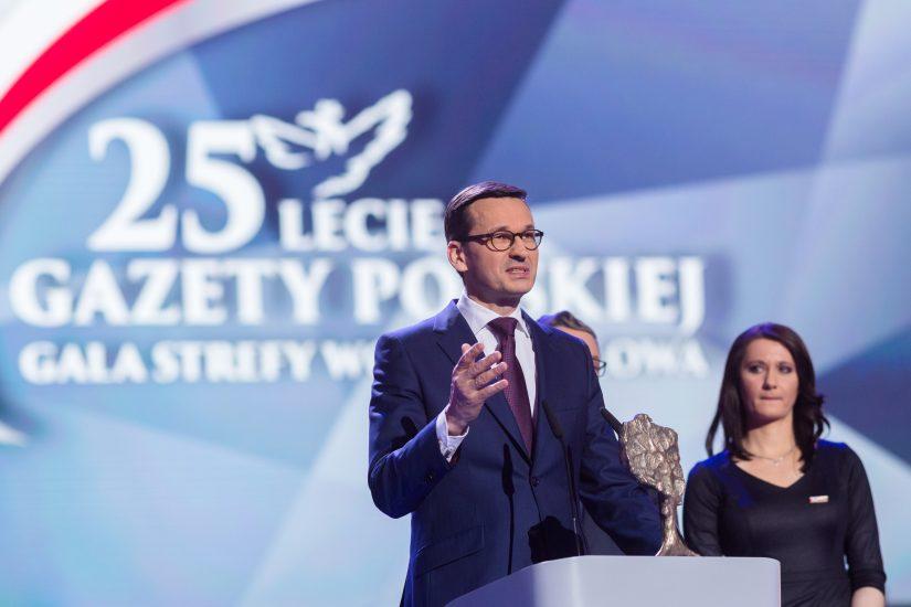 """Morawiecki laureatem nagrody Człowiek Roku 2017 Klubów """"Gazety Polskiej"""""""