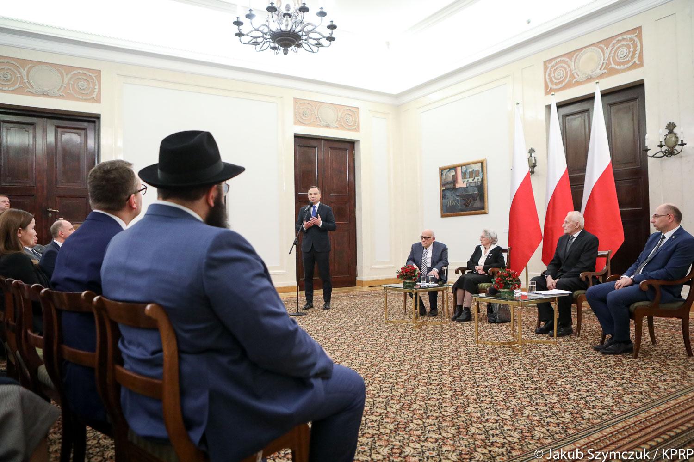 Prezydent A. Duda spotkał się ze Sprawiedliwymi Wśród Narodów Świata
