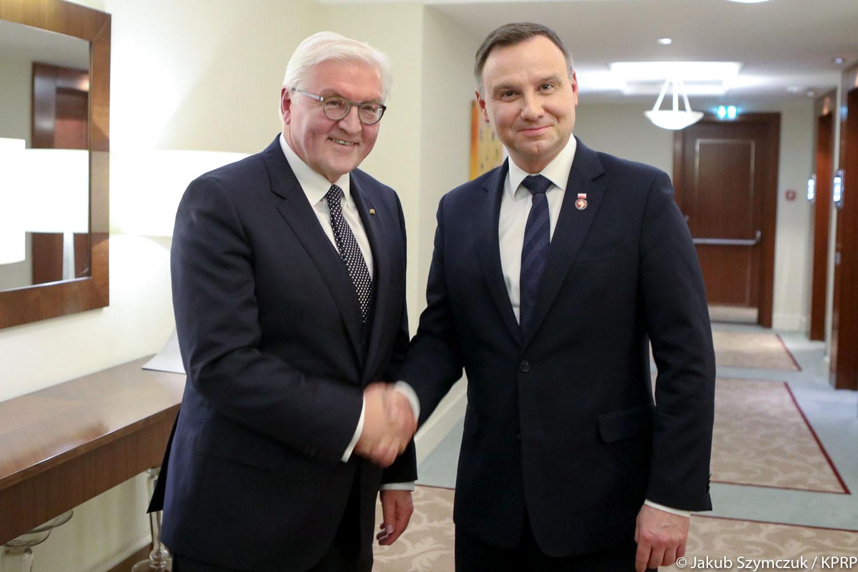 Prezydent Duda rozmawiał w Wilnie z szefem KE i prezydentem Niemiec