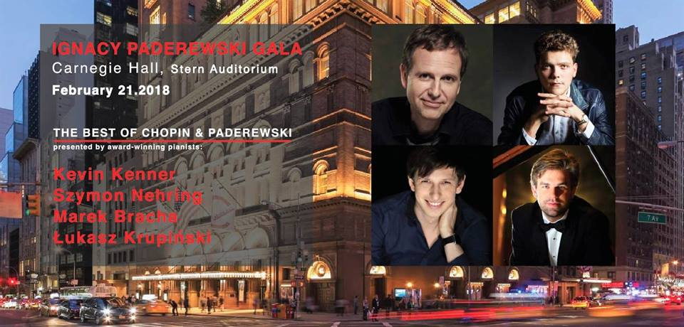 Gala w Carnegie Hall  otwierająca obchody 100 rocznicy odzyskania przez Polskę Niepodległości w NY