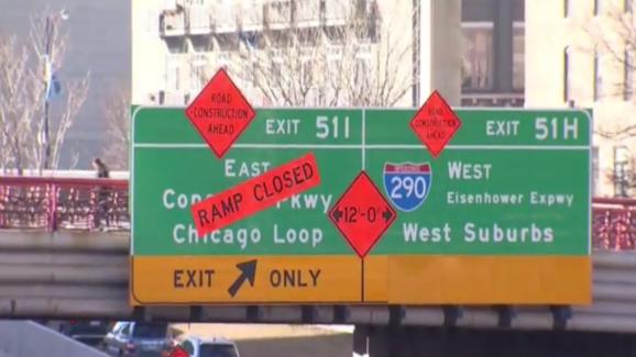 Na rok zamknięto most na Monroe nad autostradą Kennedy