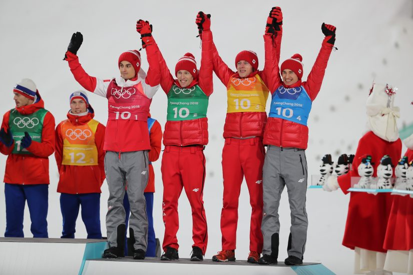 Pjongczang 2018: Polacy podczas drużynowego konkursu w skokach narciarskich zdobyli trzecie miejsce i brązowy medal