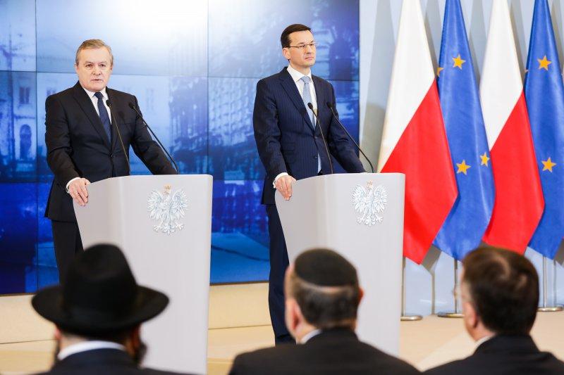 Premier Morawiecki i minister Gliński: Będzie Muzeum Warszawskiego Getta