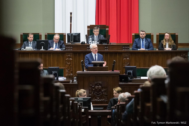 Minister Jacek Czaputowicz o priorytetach polskiej dyplomacji w 2018 roku [TEKST PEŁNEGO WYSTĄPIENIA W SEJMIE]