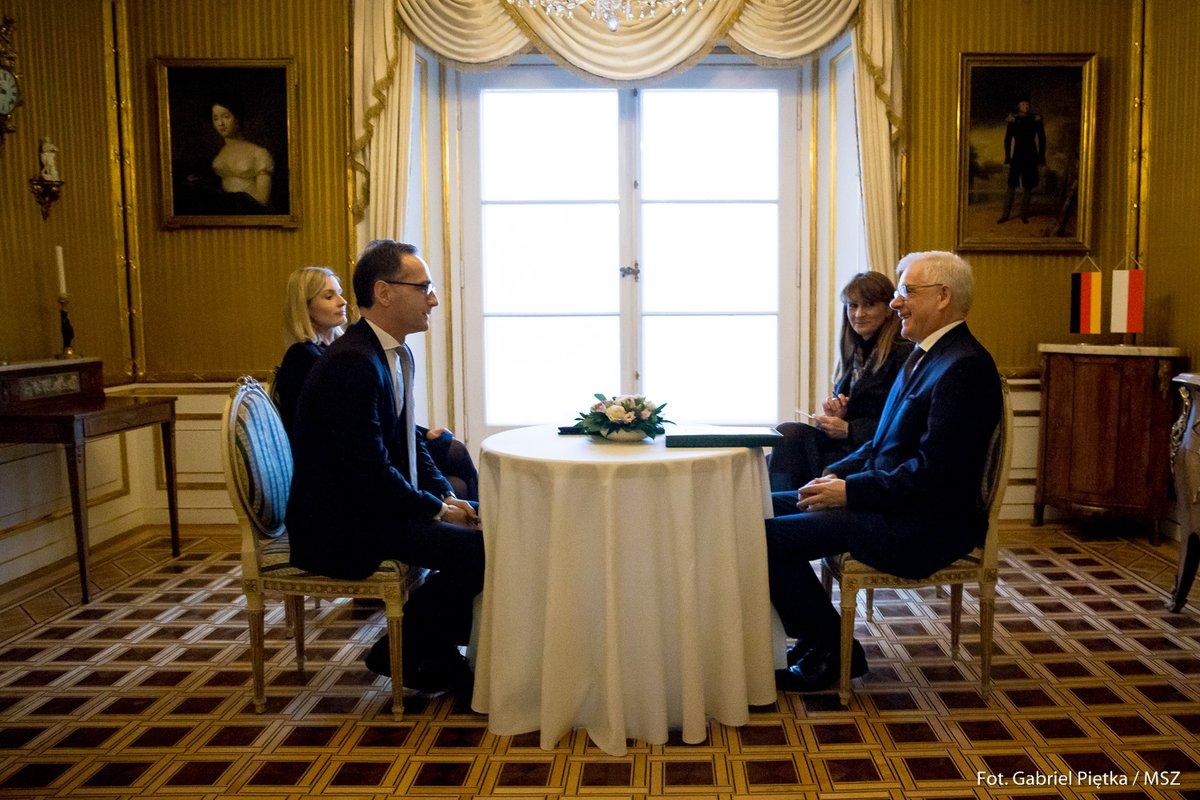 Szef MSZ Niemiec podczas wizyty w Polsce mówił o sprawie otrucia Skripala