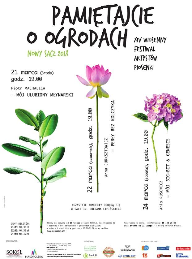 """Wiosenny Festiwal Artystów Piosenki """"Pamiętajcie o ogrodach"""""""