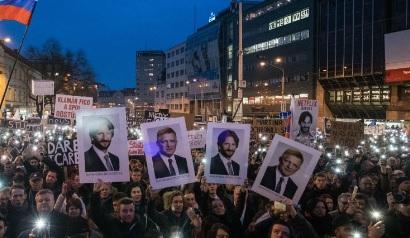 Antyrządowe protesty na Słowacji
