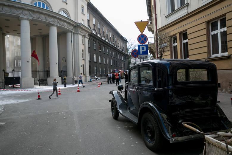 Kraków jak sowiecka stolica! Zobacz zdjęcia z planu nowego filmu Agnieszki Holland