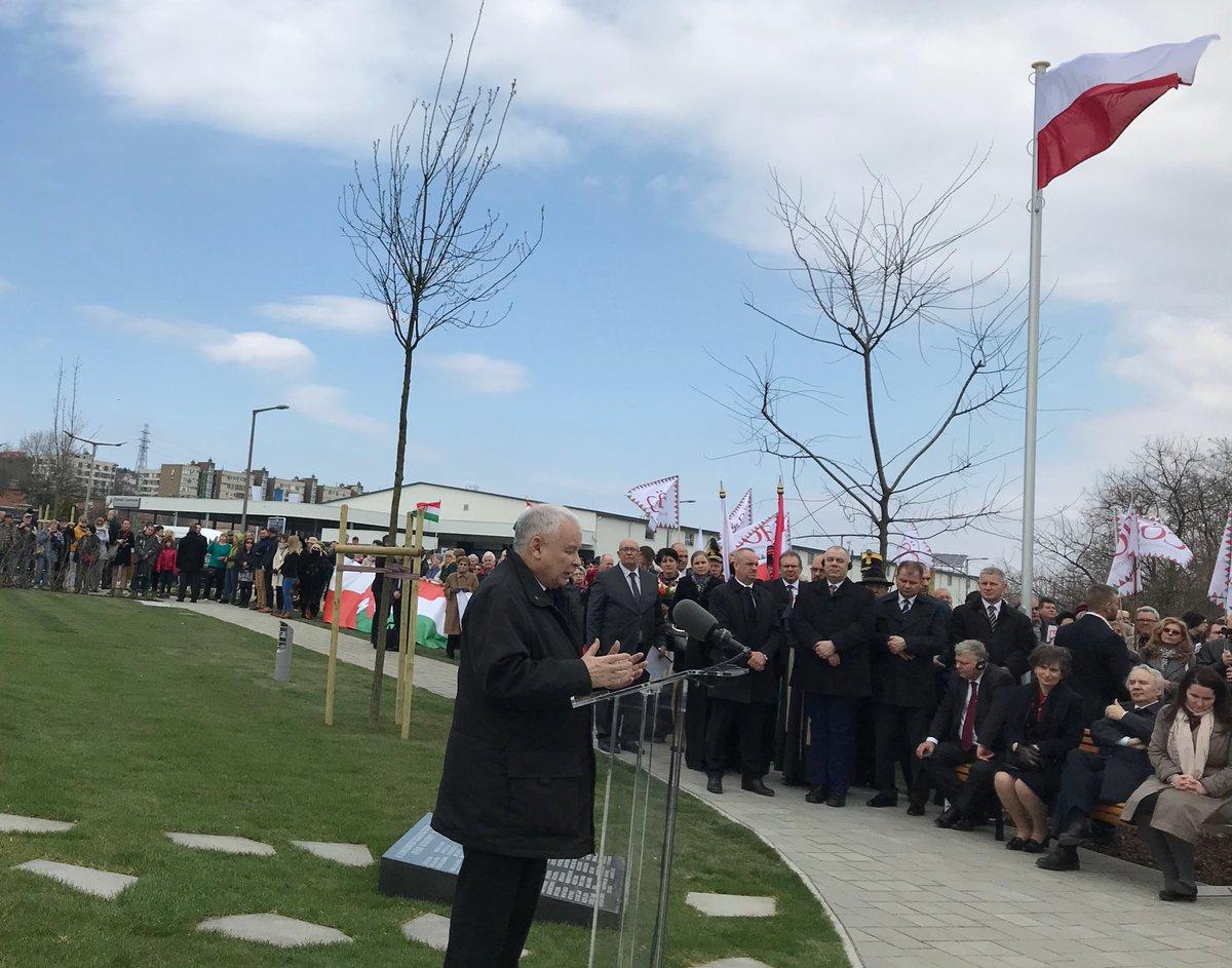 Budapeszt: Kaczyński o pomniku katastrofy smoleńskiej