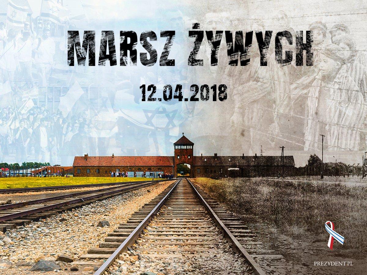 Marsz Żywych idzie z Auschwitz do Birkenau