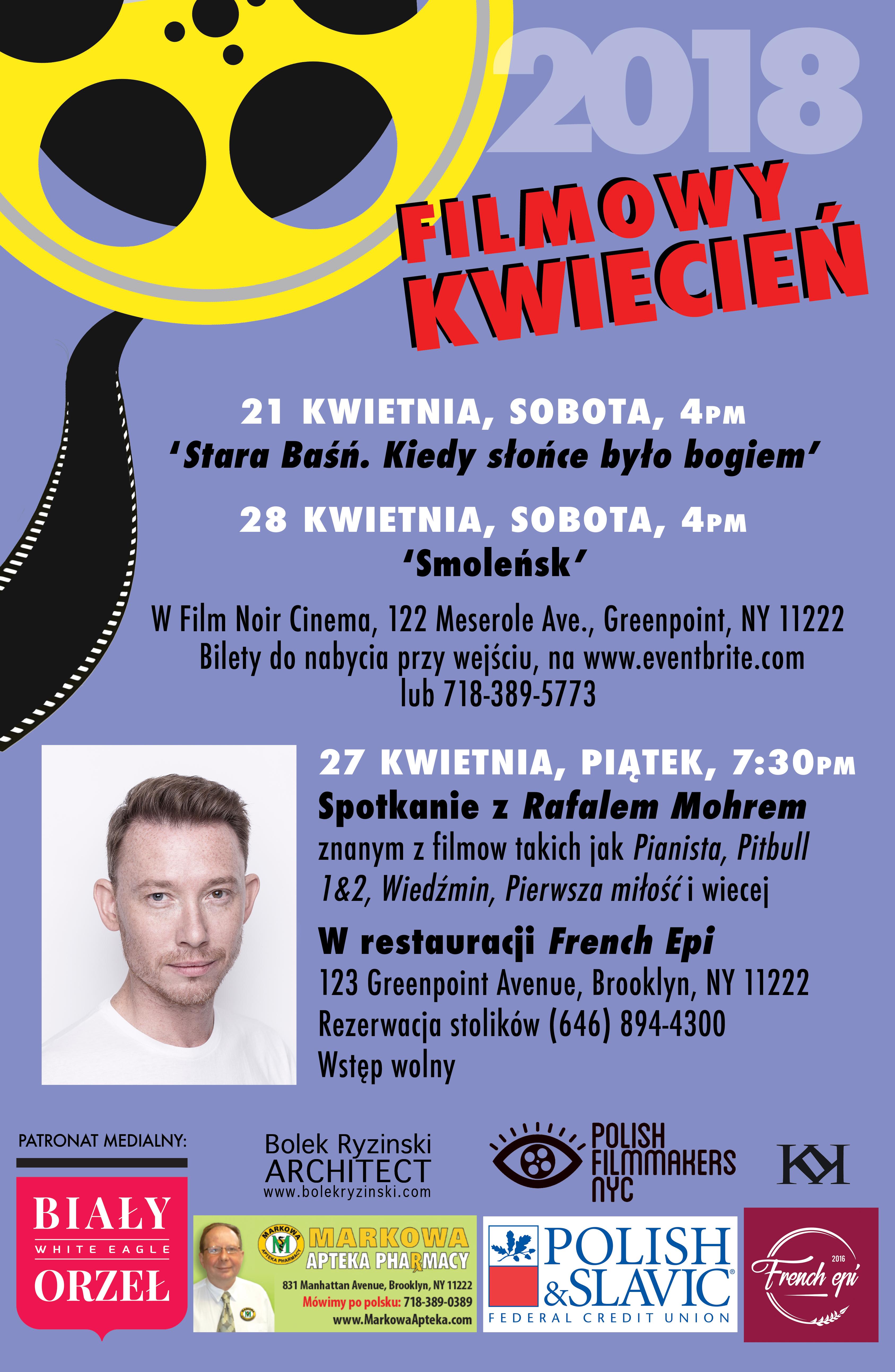 Spotkanie z aktorem z Pitbulla.Rafał Mohr, spotka się z Polonią na Greenpoincie