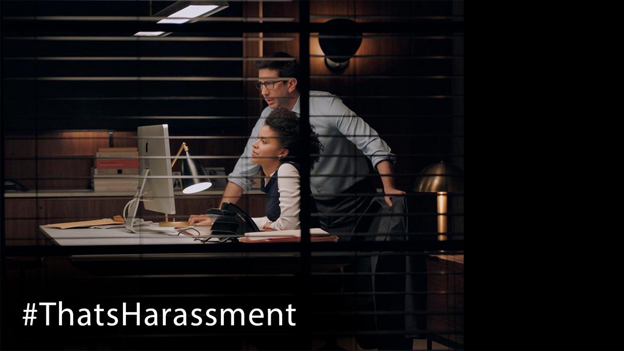 Znany aktor bierze udział w kampanii pod hasłem: That's Harassment, Chicago