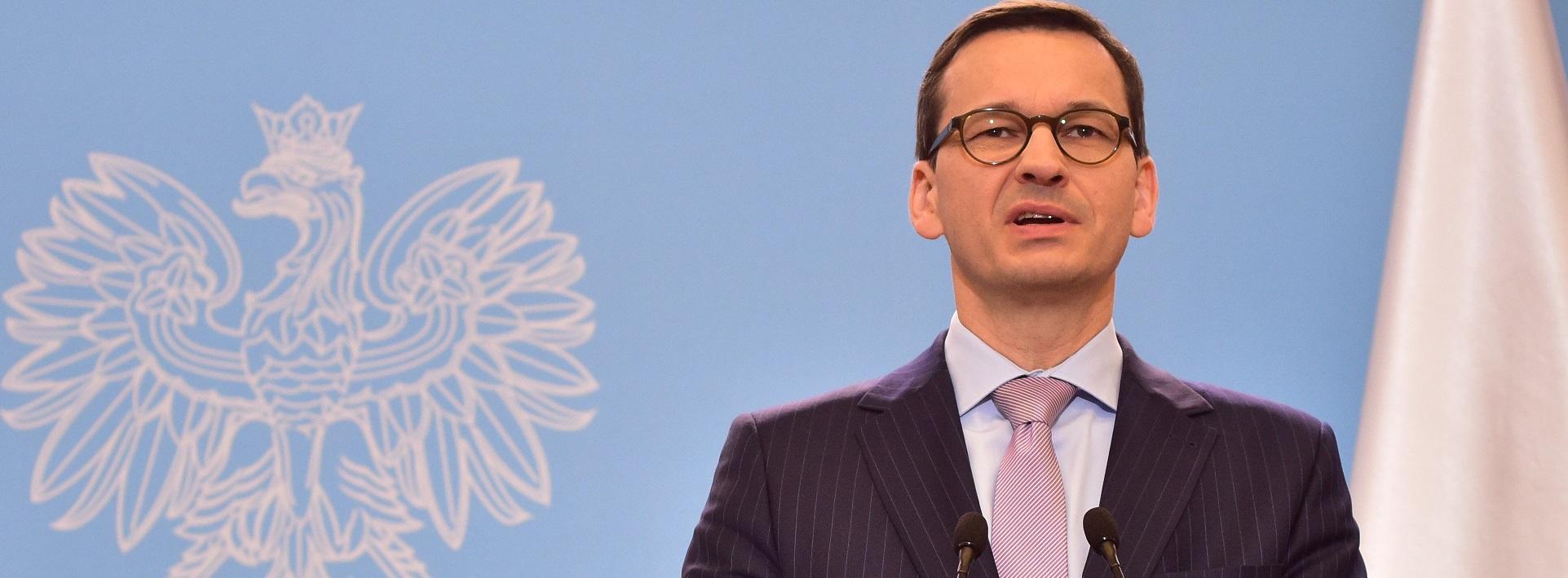 """Morawiecki: """"Polski rząd chce być integratorem między Unią Europejską a Stanami Zjednoczonymi"""""""