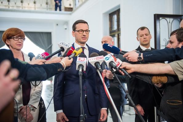 Strasburg: Premier Morawiecki spotkał się z przewodniczącym PE