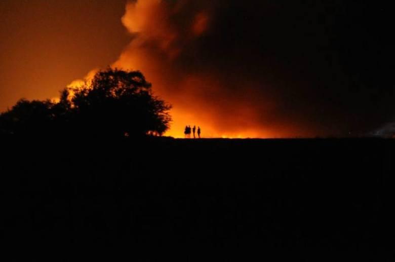 Pożar składowiska odpadów w Pyszącej w Wielkopolsce