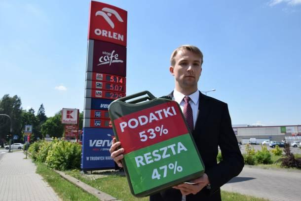 Benzyna plus?! Litr benzyny już kosztuje ponad 5 złotych. Błażej Parda z Kukiz'15 alarmuje: PiS chce jeszcze podnieść ceny!