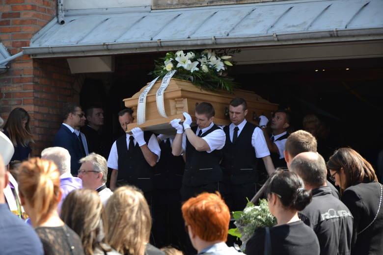 Pogrzeb górnika z Zofiówki Marcina Balceraka
