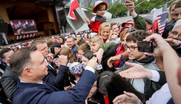 Prezydencka para spotkała się z chicagowską Polonią w Millennium Park