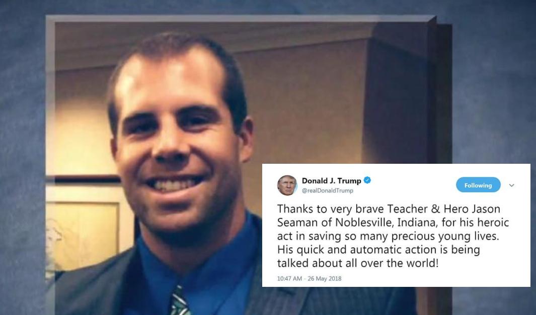 Trump podziękował dzielnemu nauczycielowi spod Indianapolis
