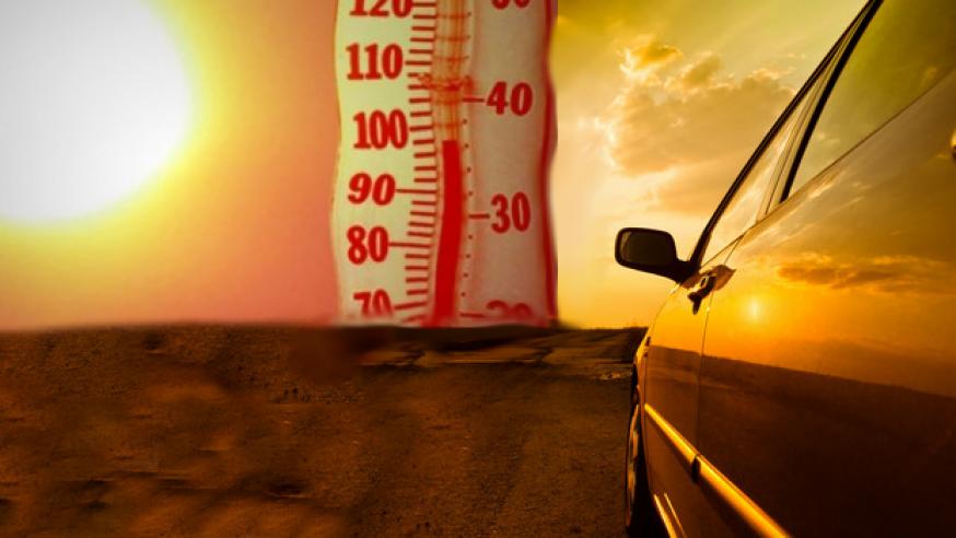 Naukowcy ostrzegają: Temperatura w samochodzie może w ciągu godziny wzrosnąć do 160 stopni F!