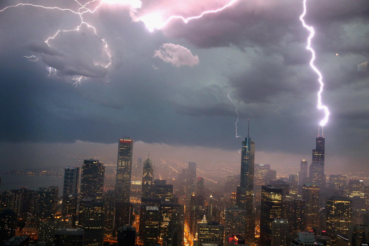 Gwałtowne burze w Chicago