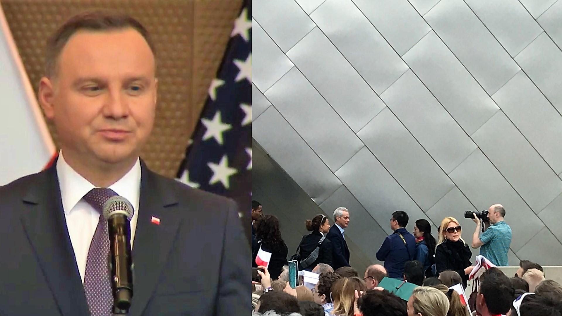 Skandal w Millenium Park podczas przemówienia Prezydenta Dudy