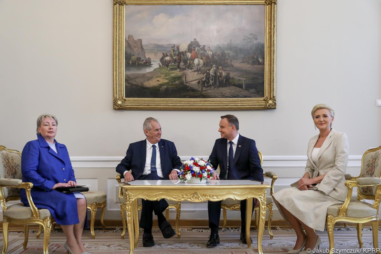 Spotkanie prezydentów Polski i Czech. O czym rozmawiali?