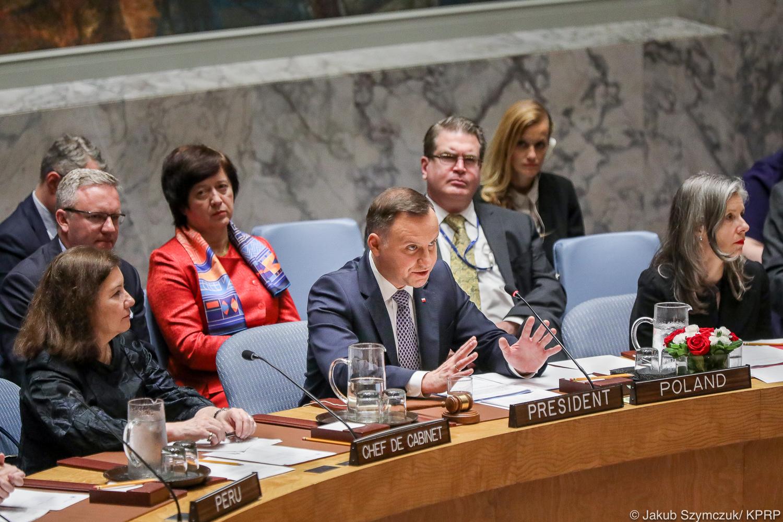 Prezydent Duda na forum RB ONZ: Prawo międzynarodowe jest filarem pokoju i porządku na świecie