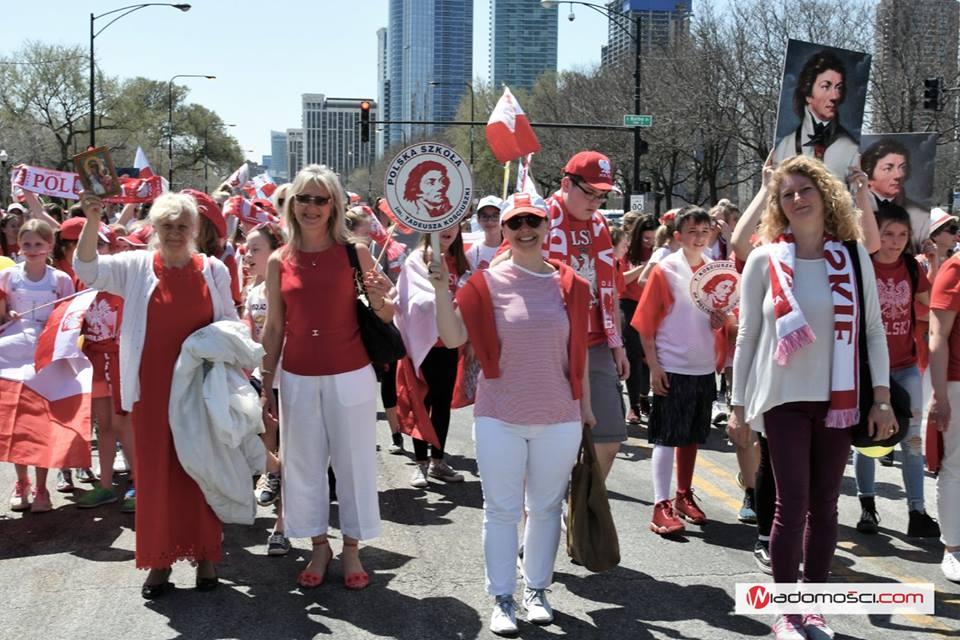 Polonia manifestowała swoją polskość. W Chicago odbyła się 127. Parada 3 Maja