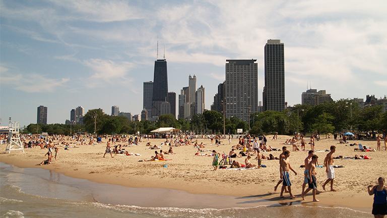 Rekordowo upalny weekend Memorial Day w Chicago