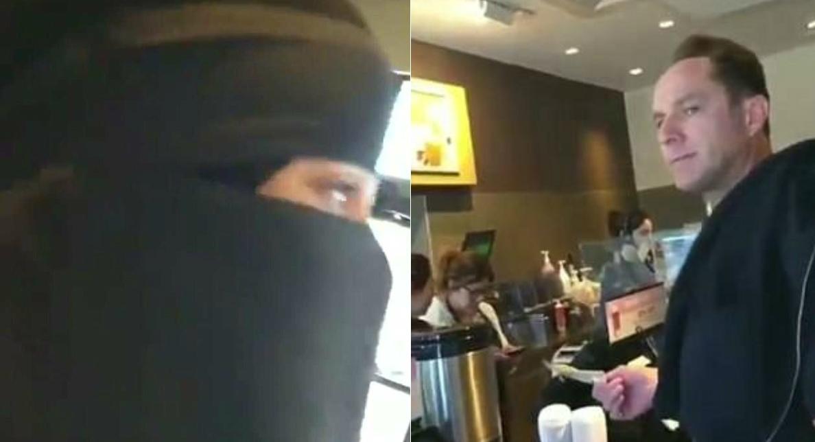 Obraził muzułmankę, odmówiono mu obsługi w kawiarni (wideo)