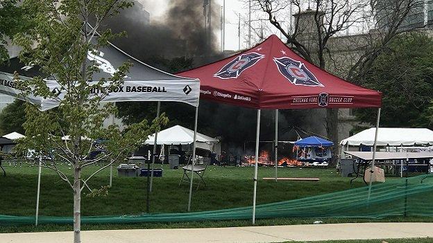 Eksplozja butli z gazem na Soldier Field