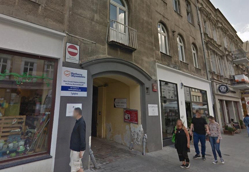Groził, że podpali siedzibę biura Platformy Obywatelskiej w Łodzi. Grozi mu do dwóch lat więzienia