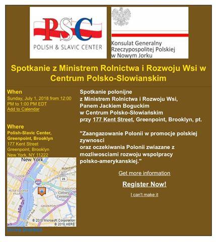Spotkanie z Ministrem Rolnictwa i Rozwoju Wsi w Centrum Polsko-Słowiańskim